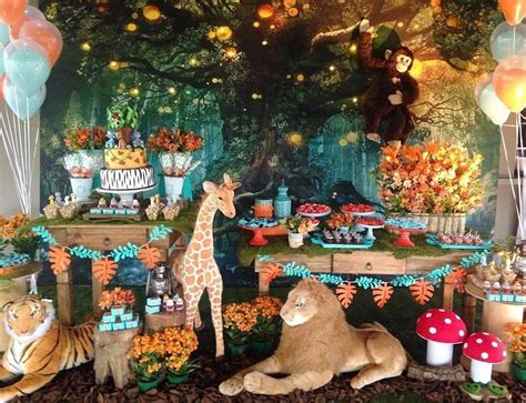 jungle safari themed birthday party ideas kids party