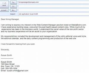 best formats for sending job search emails letter format With how to apply for a job via email