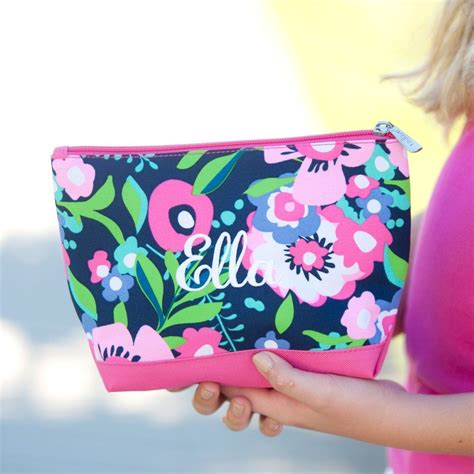 posie personalized cosmetic bag personalized cosmetic bags monogram cosmetic bag
