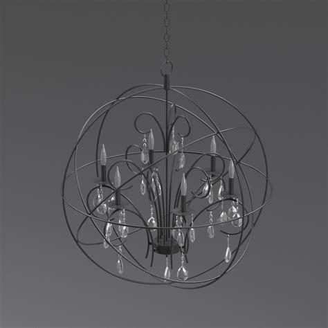3d foucault s orb chandelier restoration hardware high