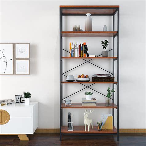 9 Foot Bookshelves by Modrine 5 Shelf Bookcase Bookshelf Industrial Style Metal