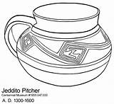 Coloring Pottery Pages Printable Pot Template Jeddito Nm Greek Sketch Sheets Pueblo Popular Templates Aztec Native American Coloringhome sketch template