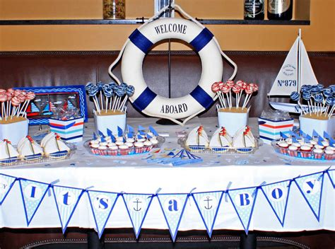 cool baby shower ideas  boys table decorating ideas