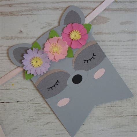 Woodland Party Banner for Girl Baby Shower and Woodland