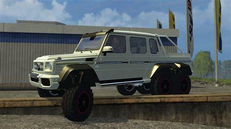 mercedes 6 wheel pickup mercedes benz g 65 amg 6x6 car v 1 0 farming simulator