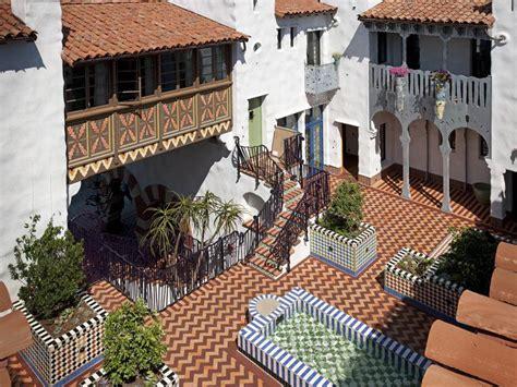 moroccan influenced condominium complex  santa barbara
