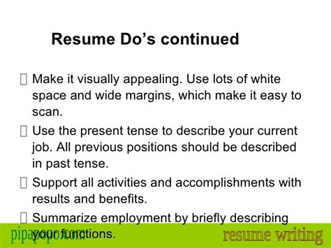 resume should it be past tense