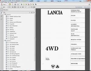 Lancia Delta Prisma 4wd - Service Manual