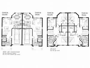 Plan Pour Maison : plan maison jumelee avec etage ~ Melissatoandfro.com Idées de Décoration