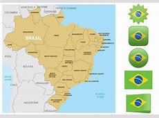 Brazil Map And Flags Download Free Vector Art, Stock