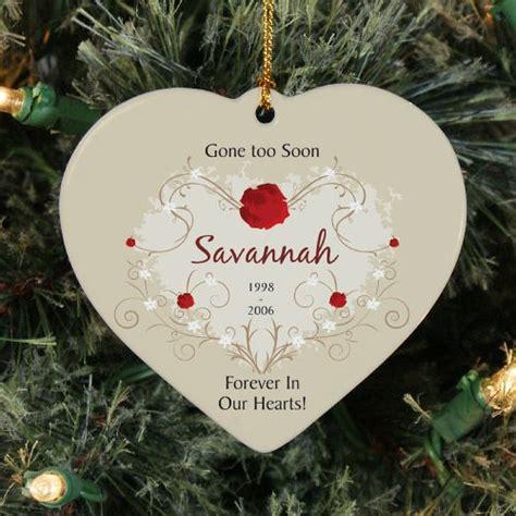 personalized heart memorial ornament ceramic heart