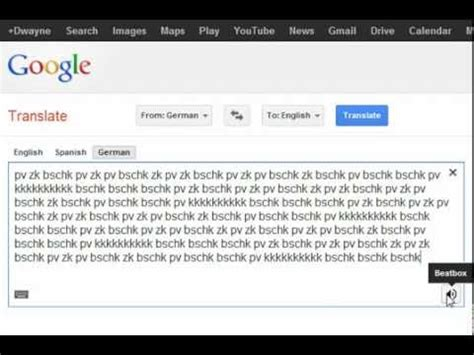 google translate beatbox youtube