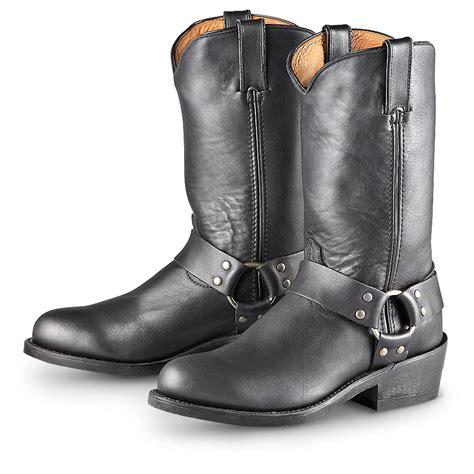 road motorbike boots road wolf dominator harness boots black 193724