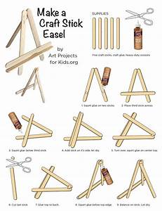 Popsicle Stick Easel Tutorial  U00b7 Art Projects For Kids