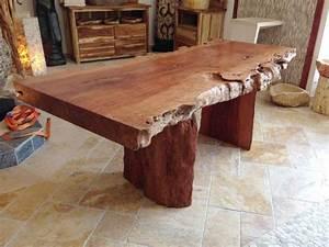 Baumstamm Als Tisch : tisch aus baumstamm wurzelholz com forafrica ~ Watch28wear.com Haus und Dekorationen