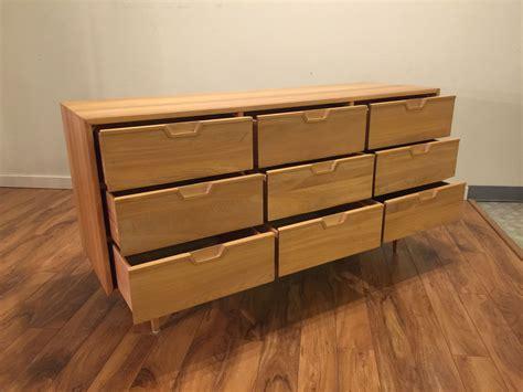 sold solid wood  drawer dresser modern  vintage