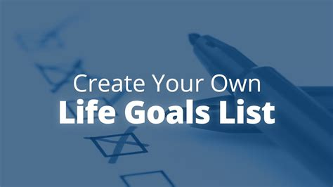 how to make your own lava l how to create your own life goals list jack canfield