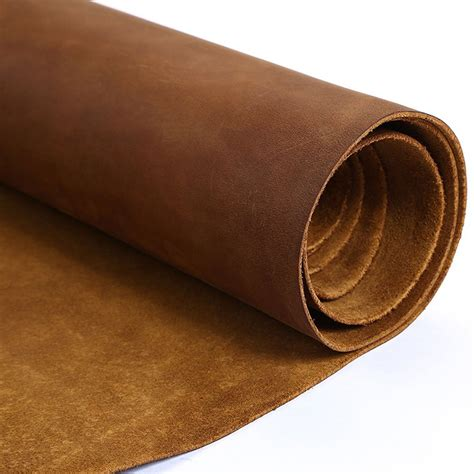 Thick Cowhide Leather by Junetree Cowhide Cow Leather Brown Thick Genuine