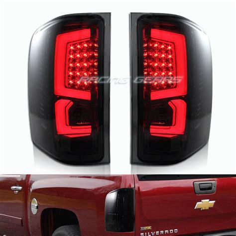 57 chevy led tail lights for 07 11 chevy silverado chrome housing smoke lens led