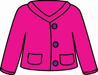 Sweater Pink Cardigan Clipart Clip Jumper Button