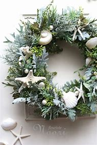 coastal christmas wreath decorations