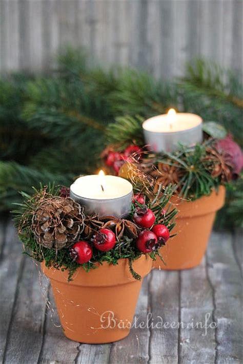 basteln zu weihnachten floristik tischdekoration