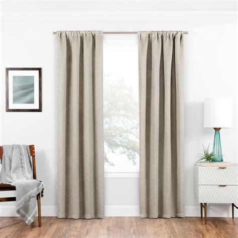 rod pocket curtains eclipse blackout isanti 63 in l ecru rod pocket curtain