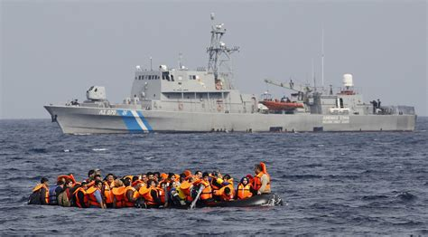 Refugee On Boat by Armed Masked Attack Refugee Boats Leaving