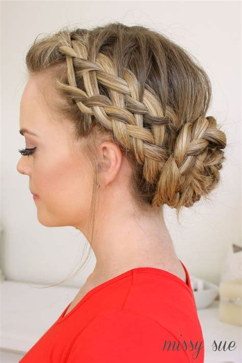 fabulous french braid updo hairstyles pretty designs
