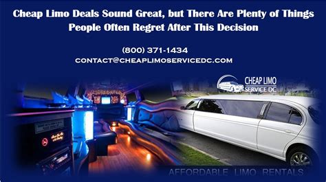Limo Deals by Cheap Limo Deals Sound Great But There Are Plenty Of Things