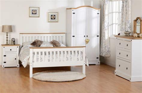 White Bedroom Furniture by Seconique White Corona Farm House Bedroom Furniture