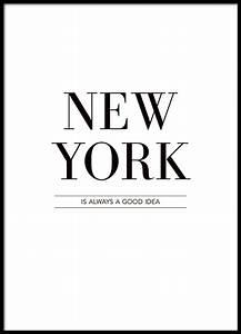 Quote Berechnen : poster affisch med text new york is always svartvita texttavlor ~ Themetempest.com Abrechnung