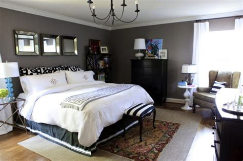 bedroom decorating painted charcoal gray wallswhite