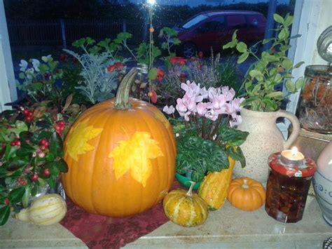 Herbst Fensterbank by Deko Herbst Fensterbrett Gem 252 Tlich K 252 Rbis Blatt