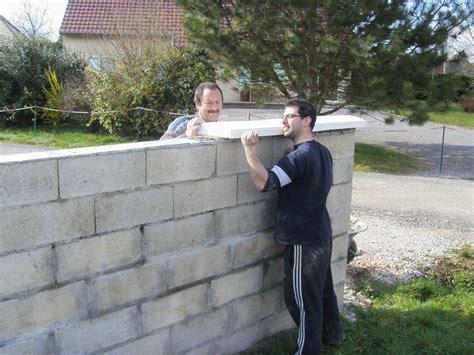 finition du muret pour le portail notre maison 224 vincelles