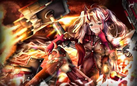wallpapers prinz eugen fire azur lane soldier