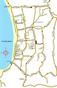 Patong Beach Phuket Thailand Map