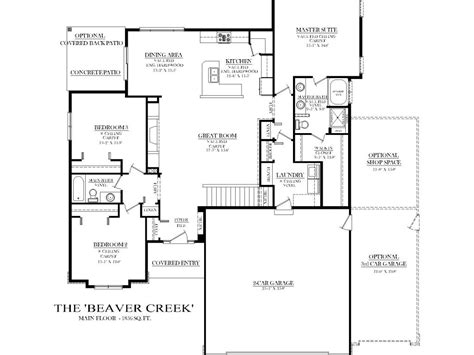 Split Bedroom Plan by Ranch House Plans With Split Bedrooms Cottage House Plans