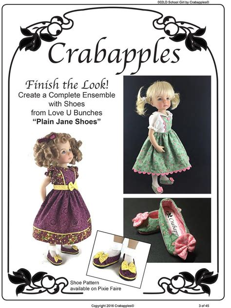 crabapples school girl doll clothes pattern