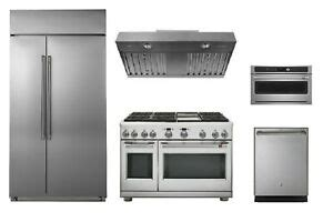 ge cafe stainless pro package   refrigerator dual fuel range ebay