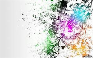 colorful skull wallpaper 2 by LinggaGosal6661 on DeviantArt