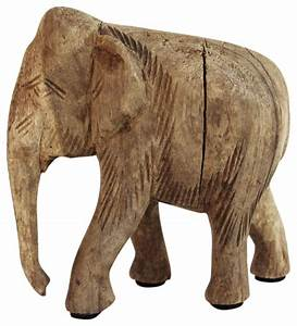 Wood, Carved, Elephant, -, Asian, -, Decorative, Objects, And, Figurines