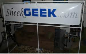 Adjustable Banner Stand by Custom Pvc Banner Holder For About 15 Sheekgeek