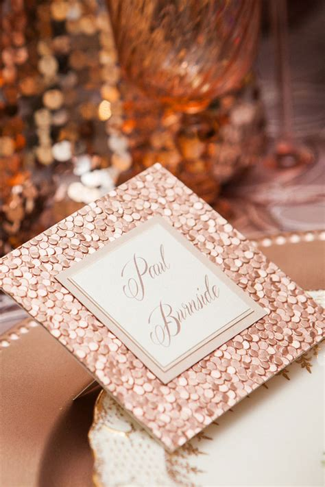 Modern Fall Decor by Rose Gold Glamour Wedding Confetti Wedding Cake