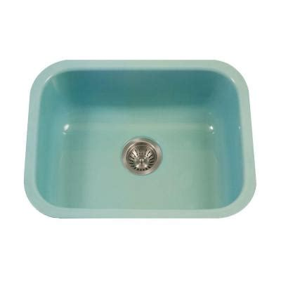 single porcelain kitchen sink houzer porcela series undermount porcelain enamel steel 23
