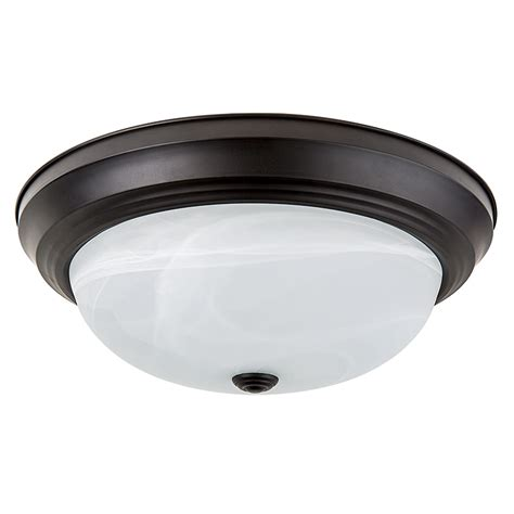 15 quot flush mount led ceiling light w rubbed bronze