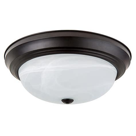 15 quot flush mount led ceiling light w rubbed bronze