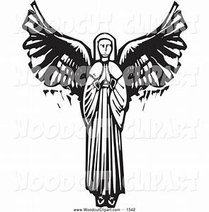 Black And White Angels Clipart   Free download best Black ...