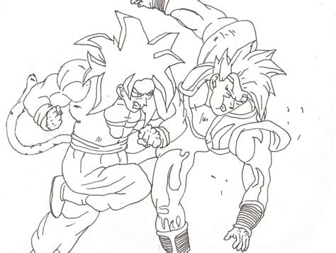 Coloring Pages Of Goku - Democraciaejustica
