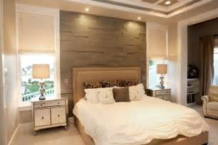 Bedroom with Wood Accent Wall Ideas